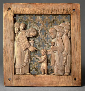 Ottonian ivory, Christ Blessing Children